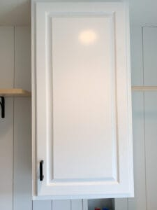 large kitchen cabinet in laundry room