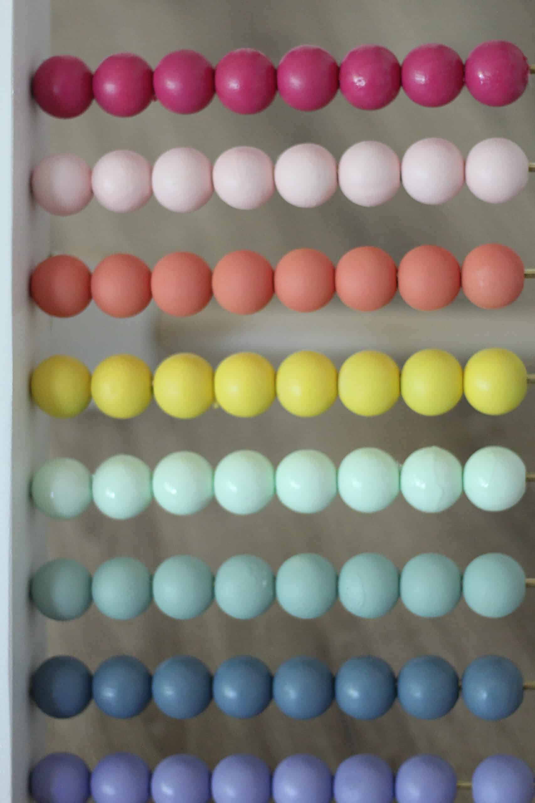 rainbow colored abacus baby toy
