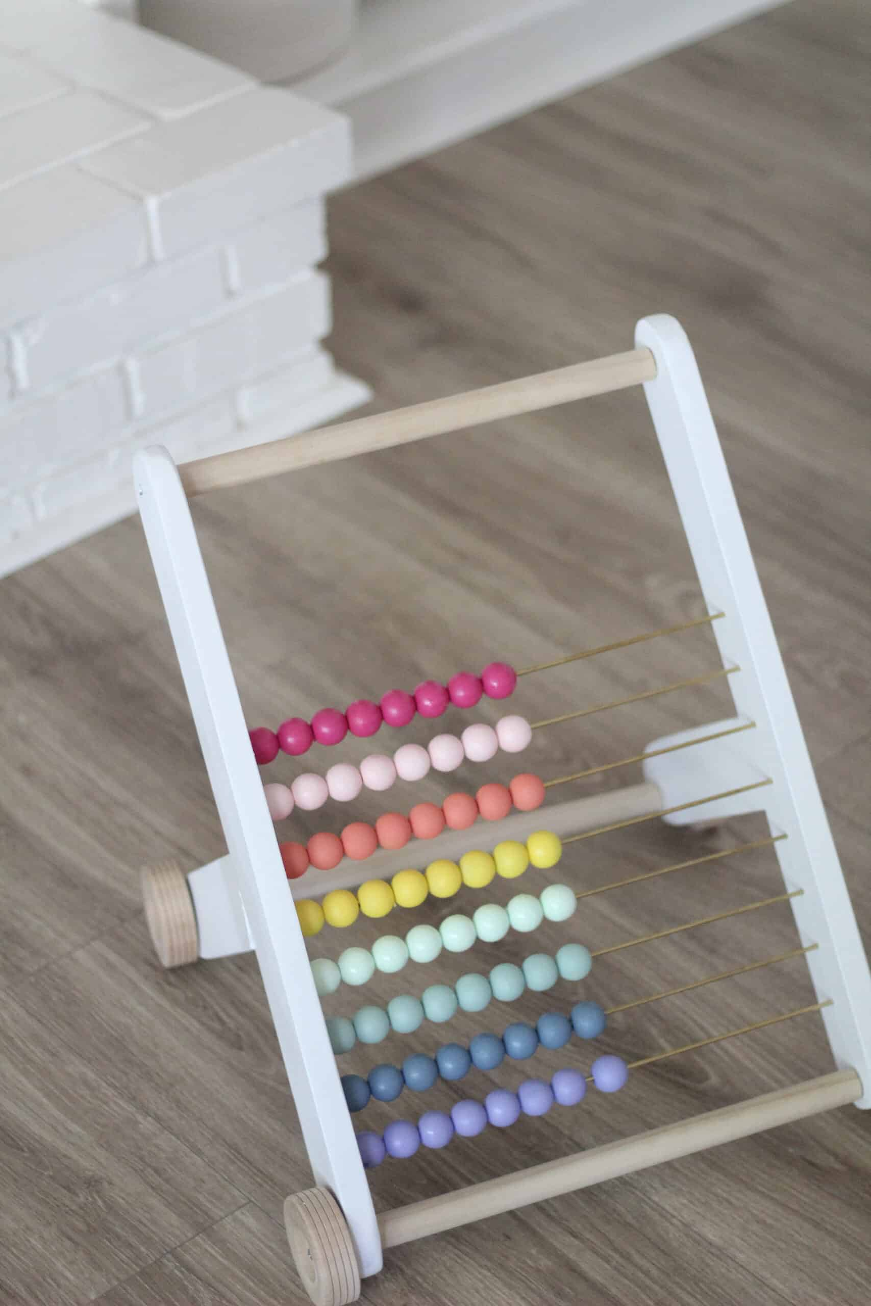rainbow abacus DIY Push toy