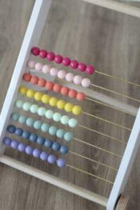 rainbow wood bead abacus
