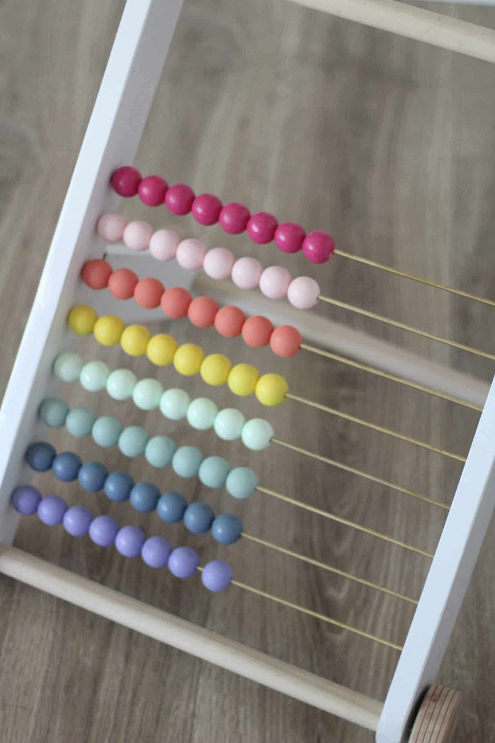 rainbow wood bead abacus