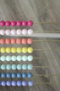 rainbow baby abacus push toy