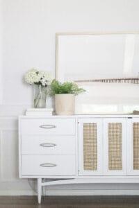 DIY Cane Dresser