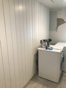 Vertical Shiplap Laundry Room