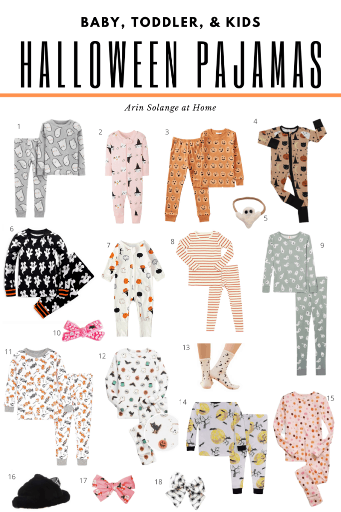 Halloween pajamas for kids and the family