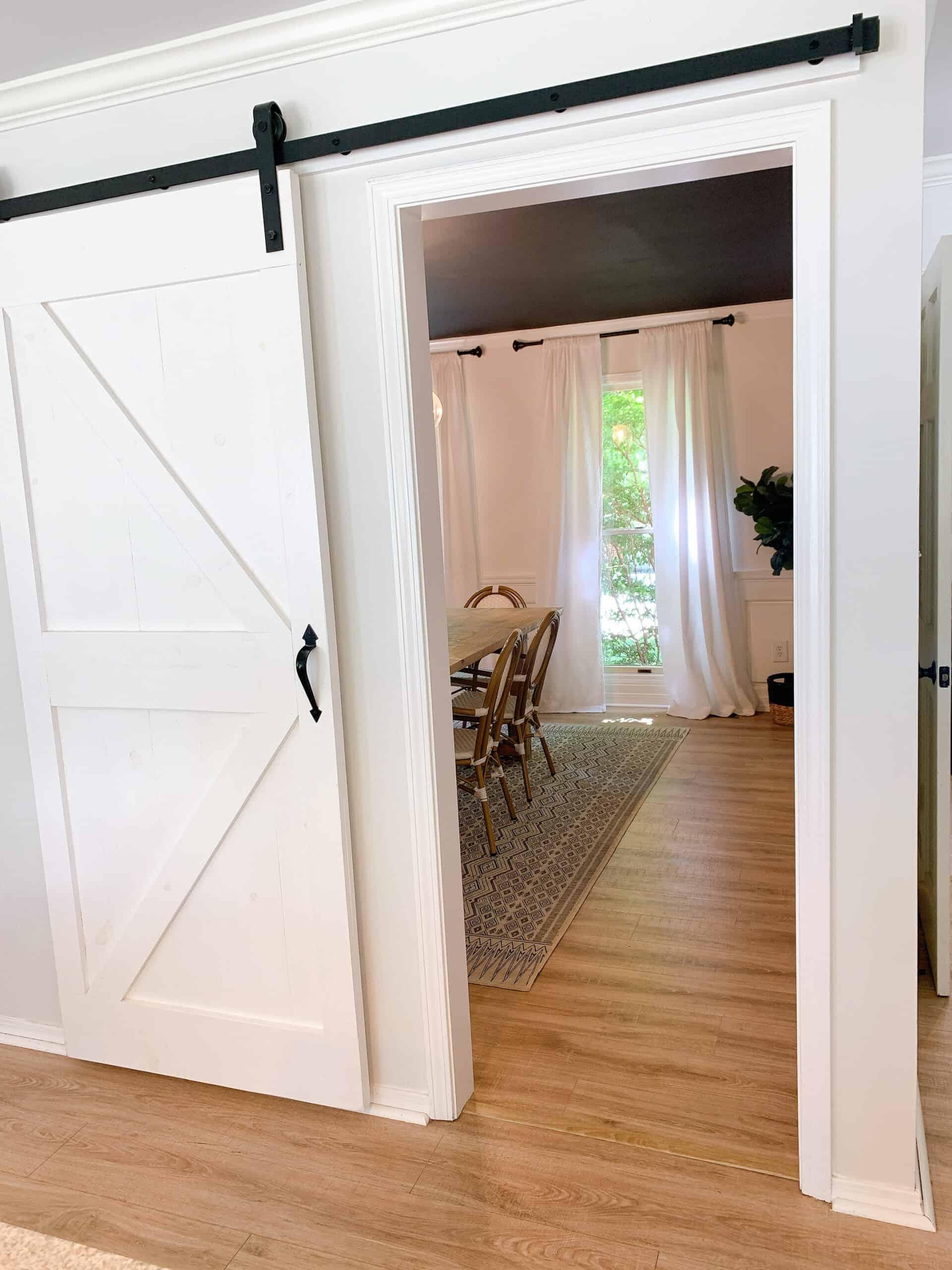 barn door in modern home