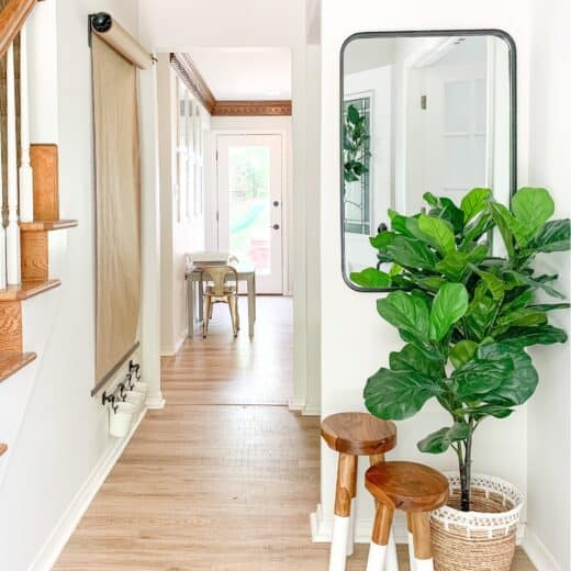 small entry way with Serena and Lily nesting stools
