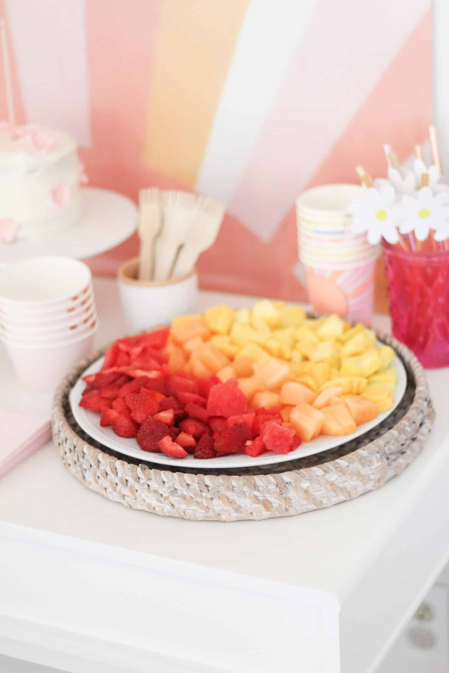 ombre fruit tray