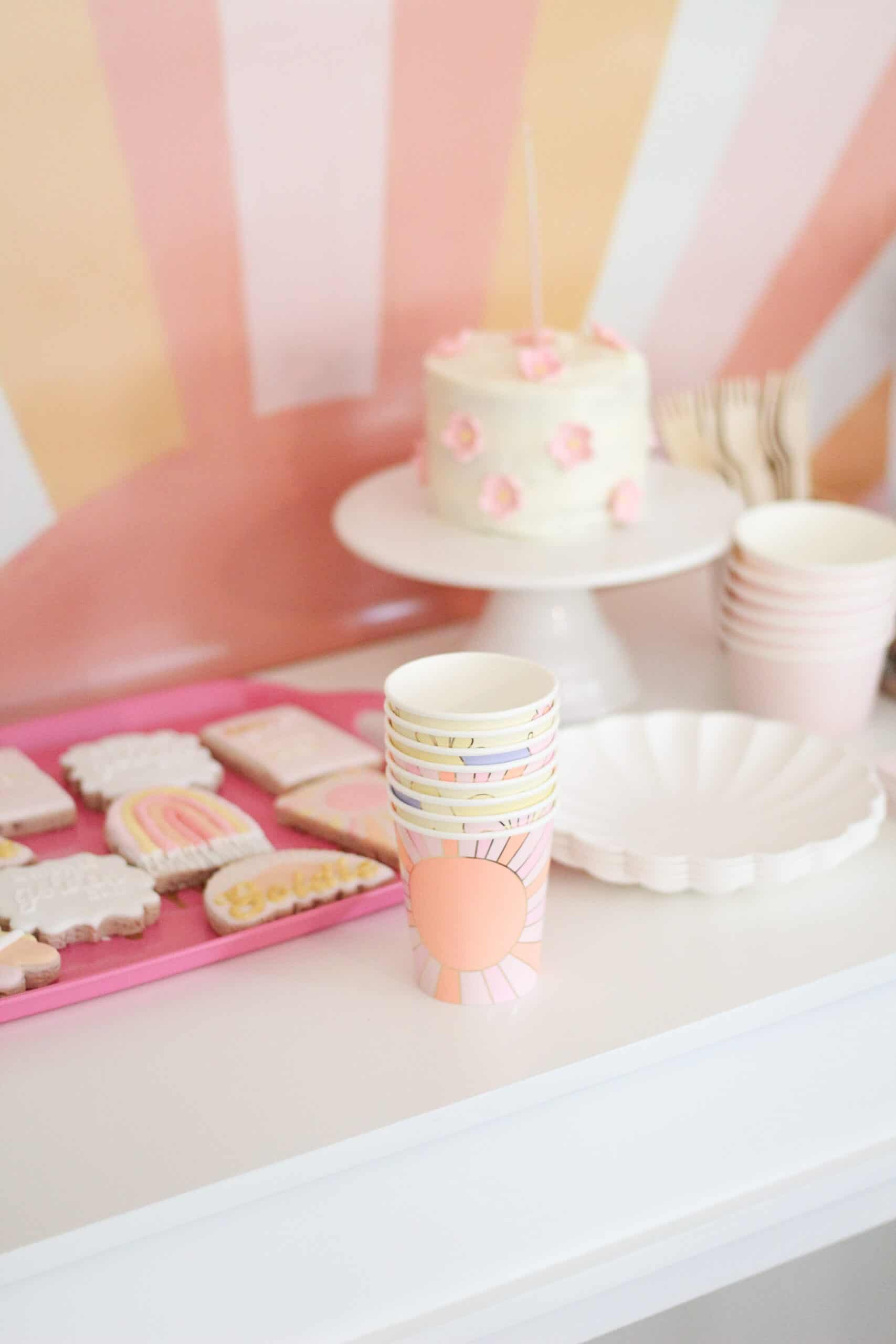 pink and yellow birthday party