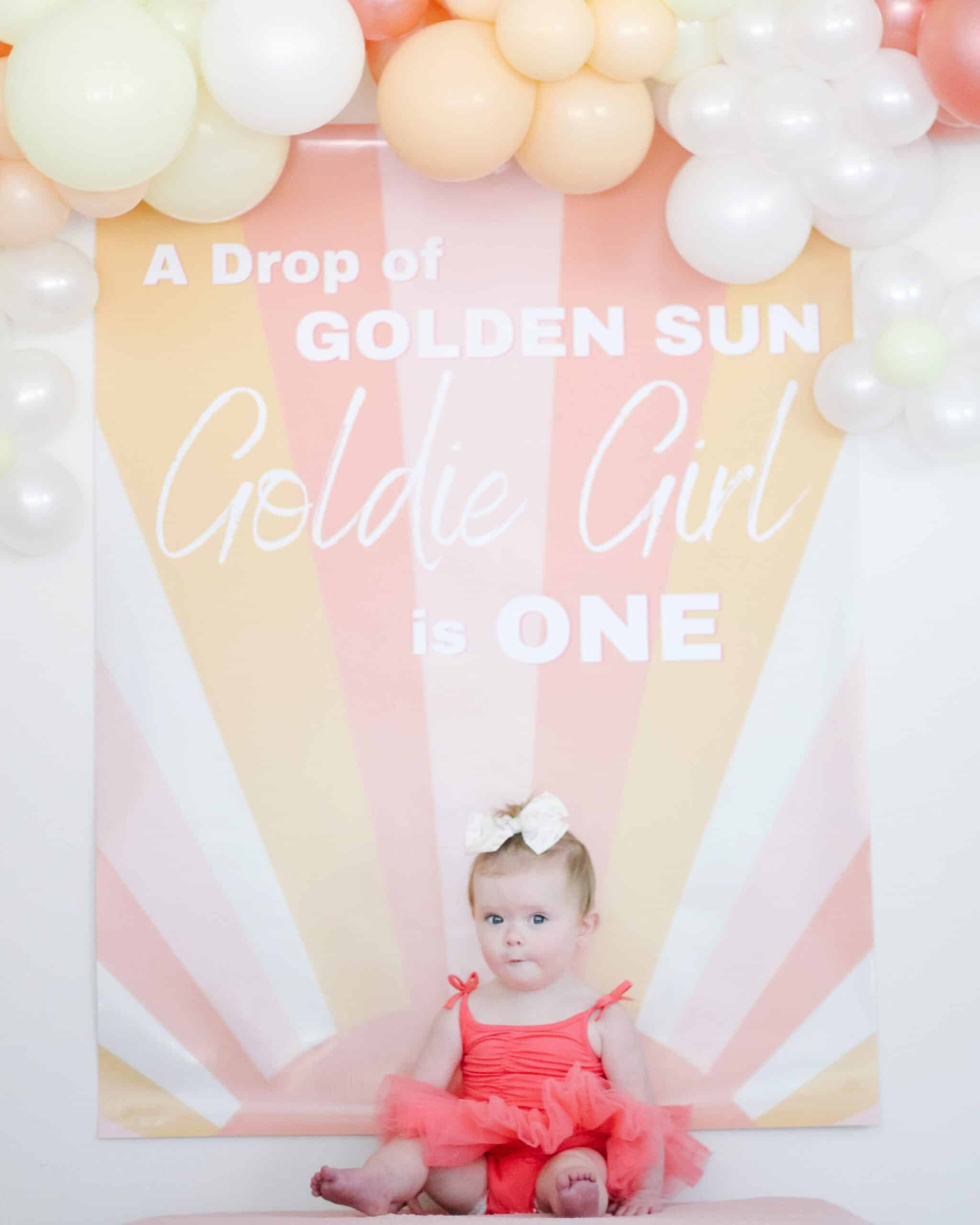 A drop of golden sun Goldie girl is One