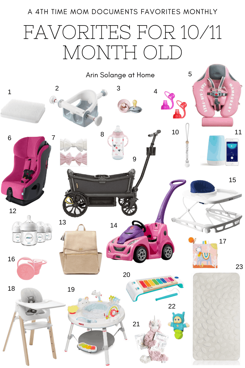 Favorite products for 10 and 11 month old baby