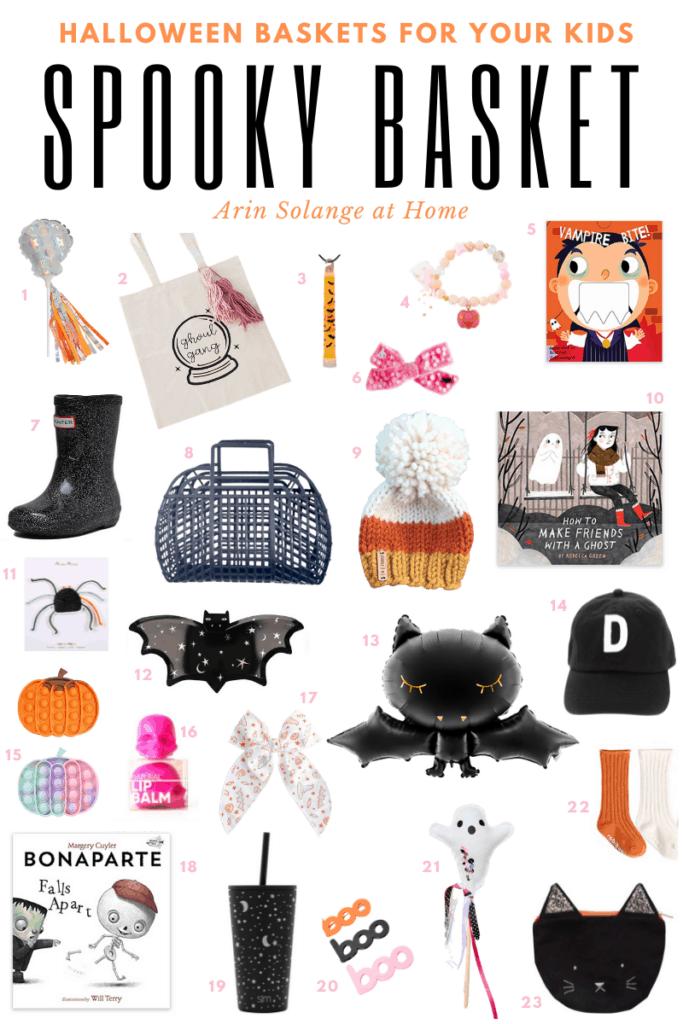 Spooky basket fillers for kids