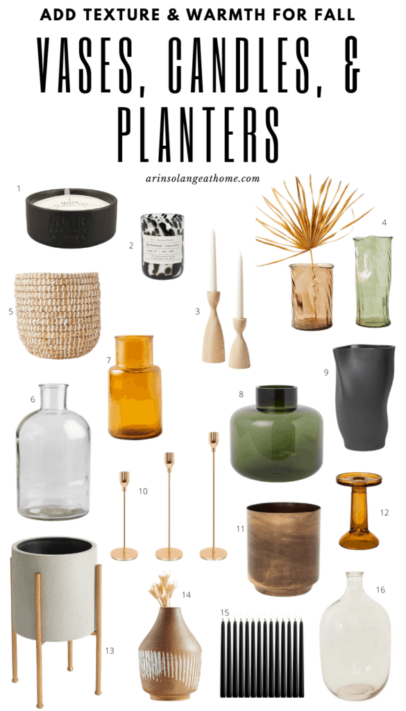 fall vases and pots