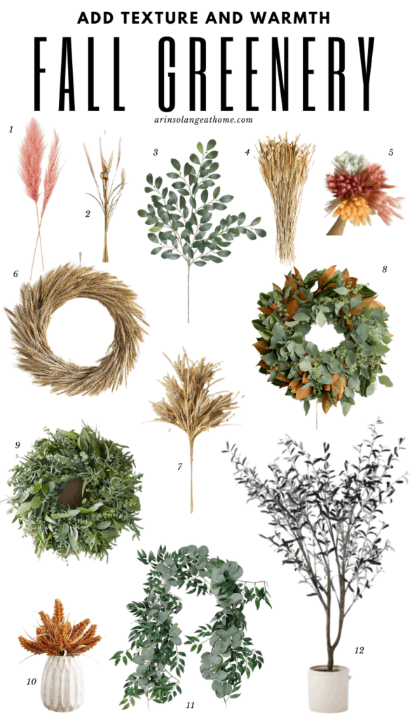 round up of fall greenery