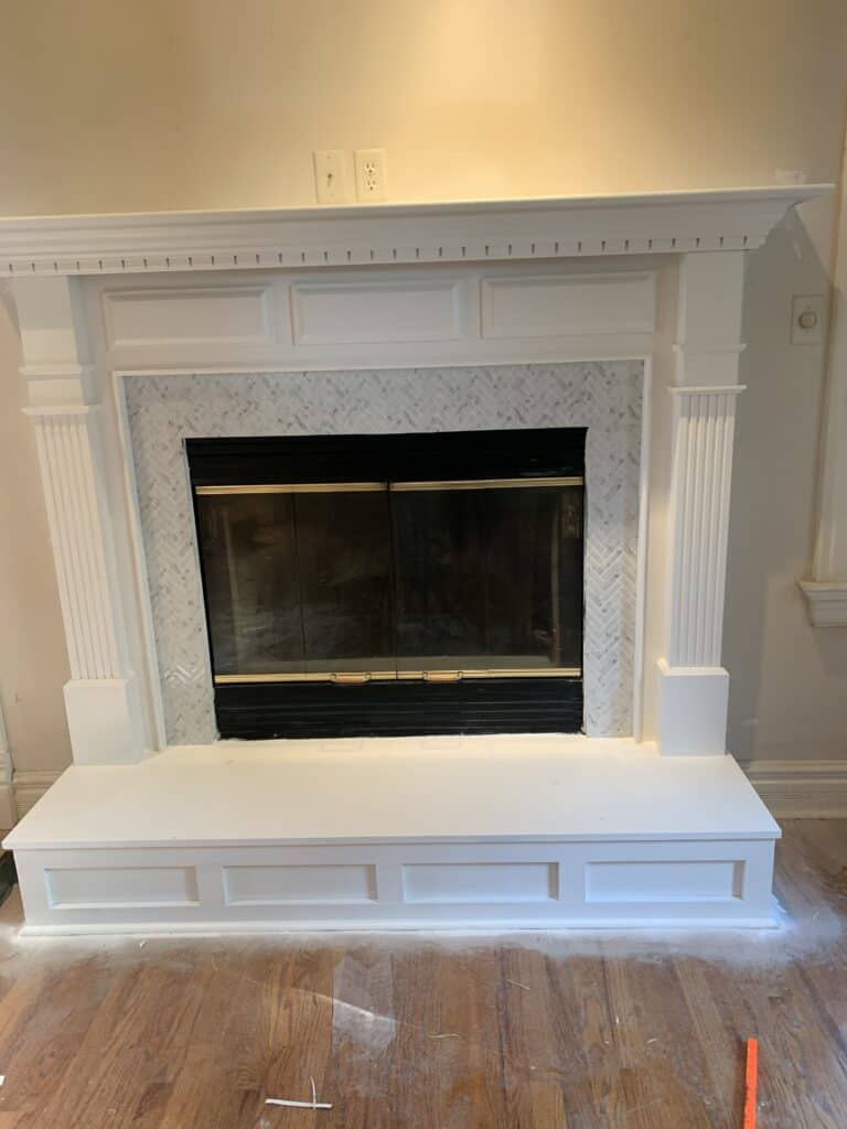 fireplace update on a budget