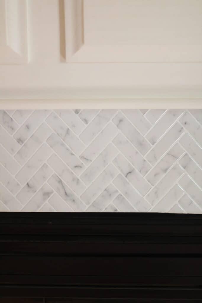 peel and and stick tiles - herringbone