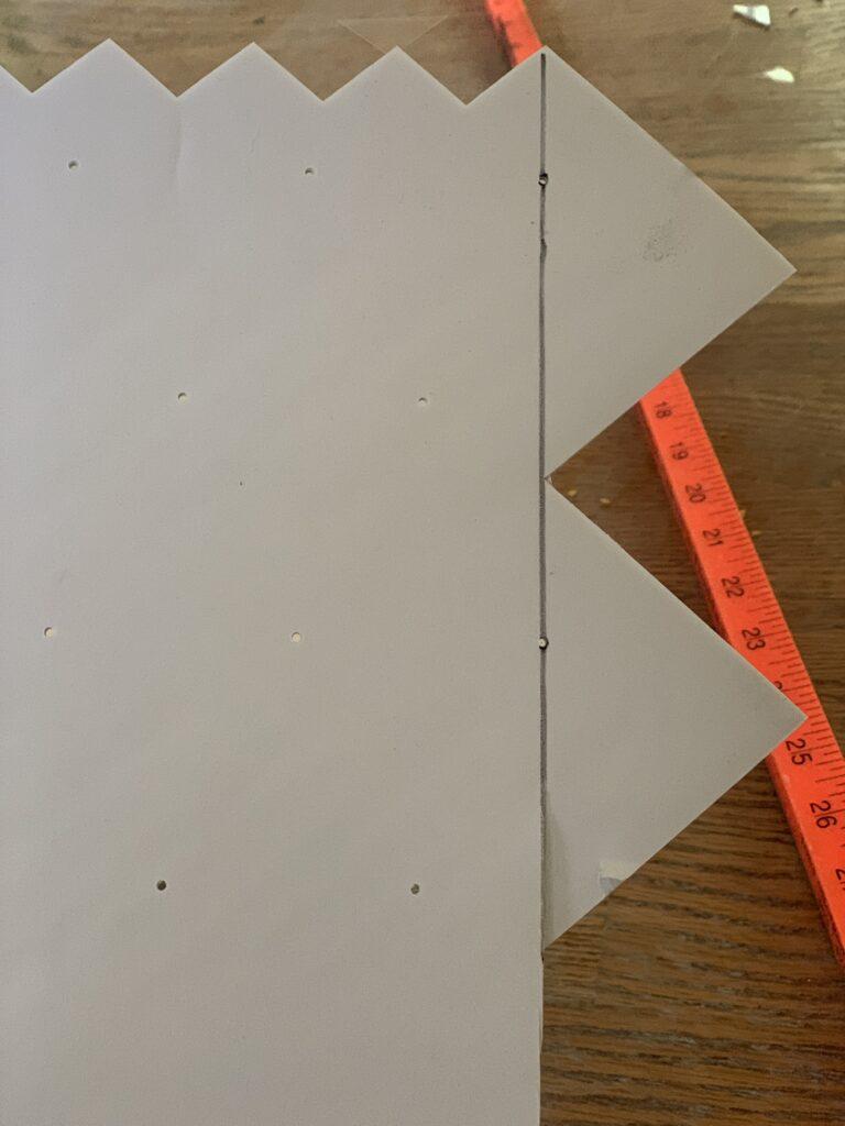 cutting peel and stick tile backsplash