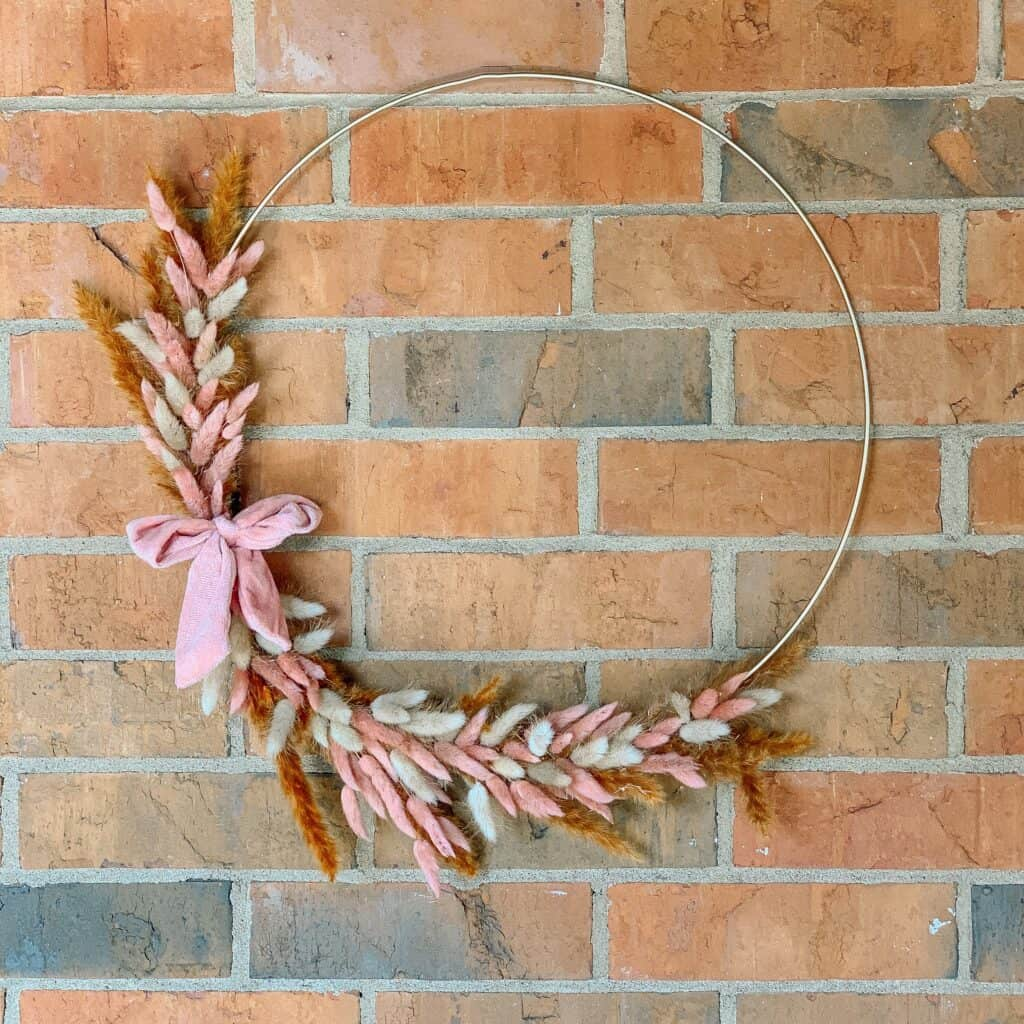 diy bunny tail wreath for fall