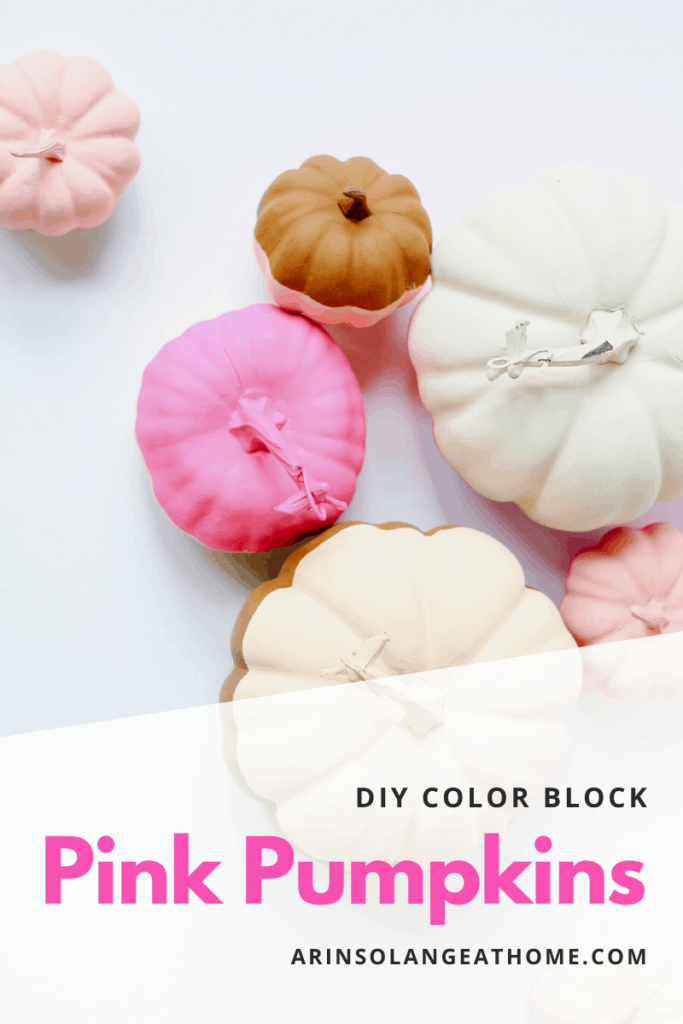 pink pumpkin color block DIY