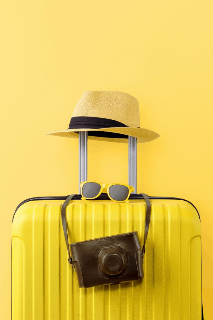 yellow suitcase photo