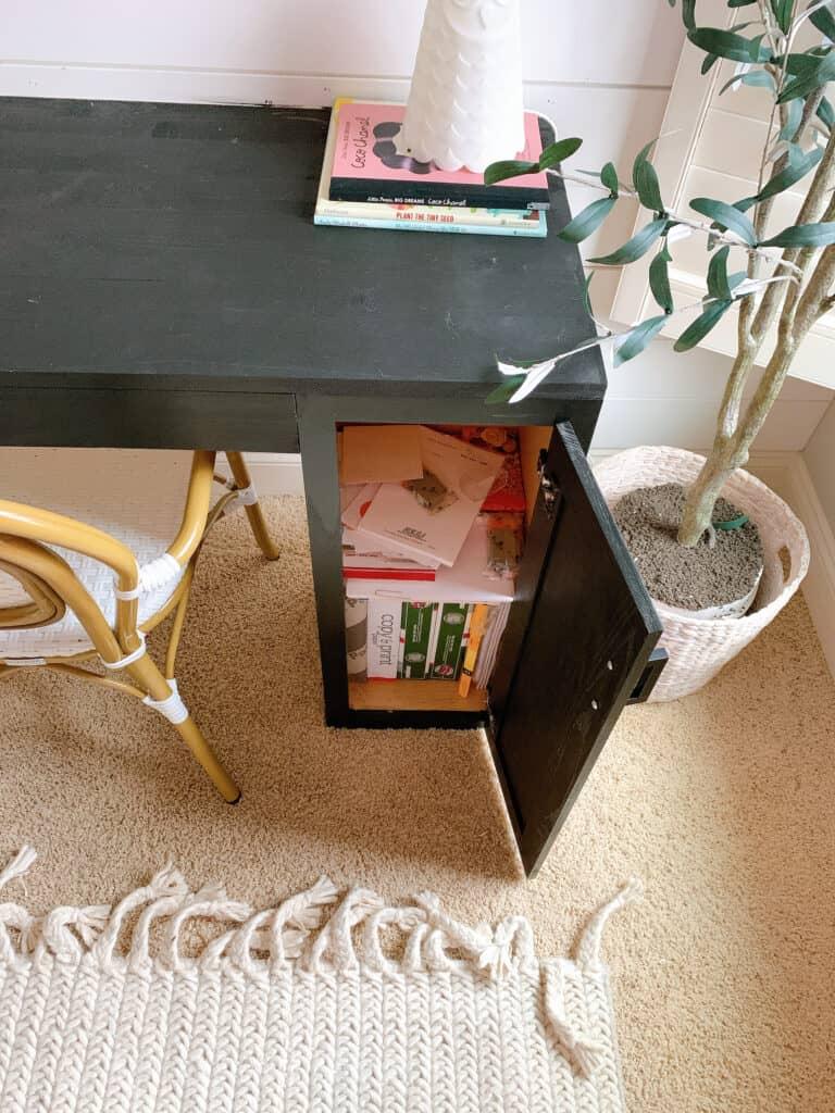 cabinet on diy desk