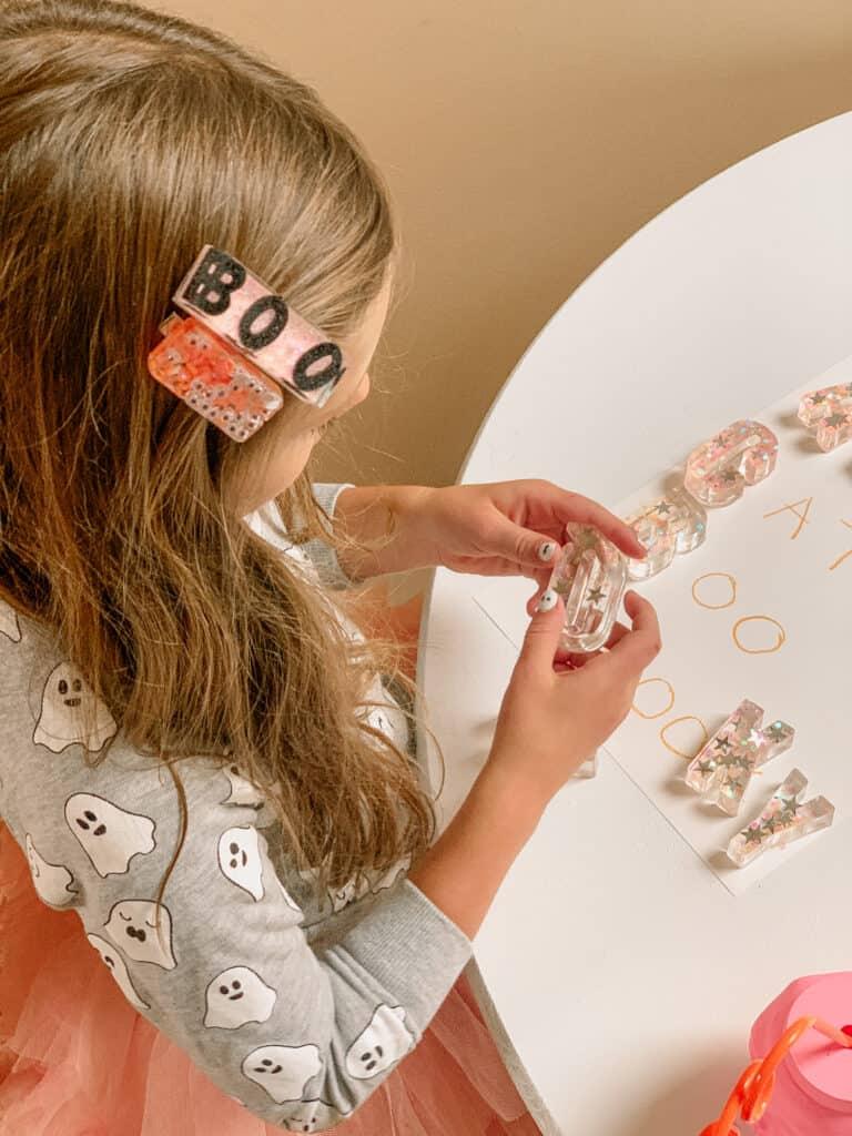 diy glitter resin letters
