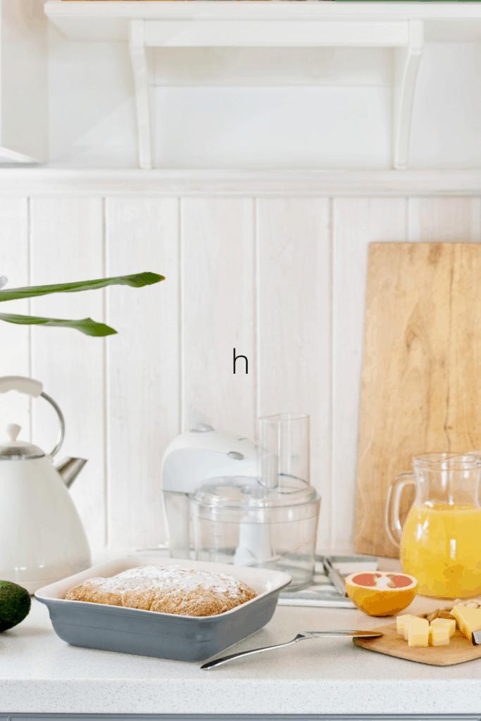 kitchen with breakfast