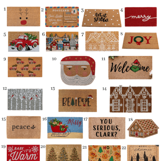 the best Christmas doormats