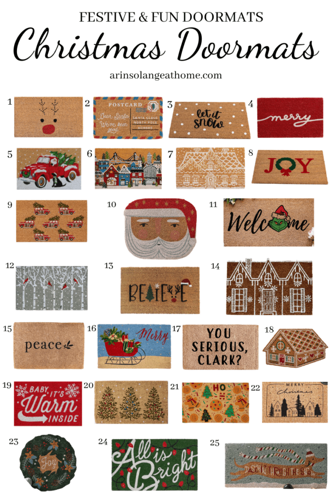 the best Christmas doormats