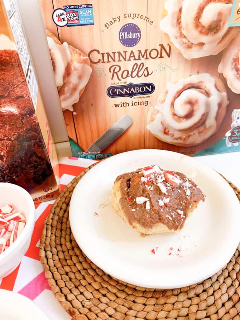 chocolate peppermint cinnamon rolls