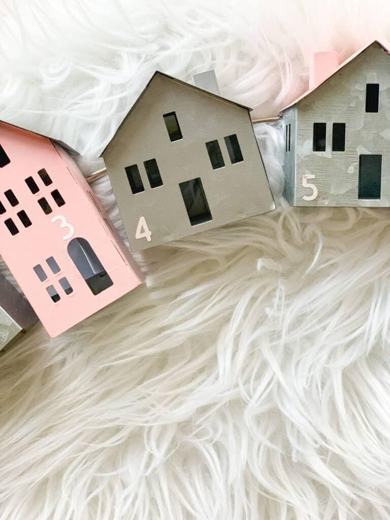 little galvanized houses advent calendar