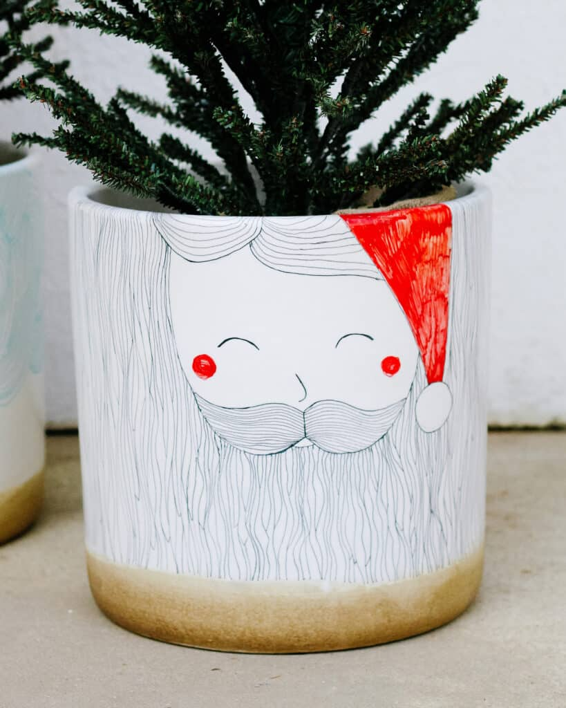 sharpie santa planter