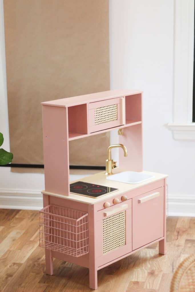Pink and cane IKEA Play kitchen