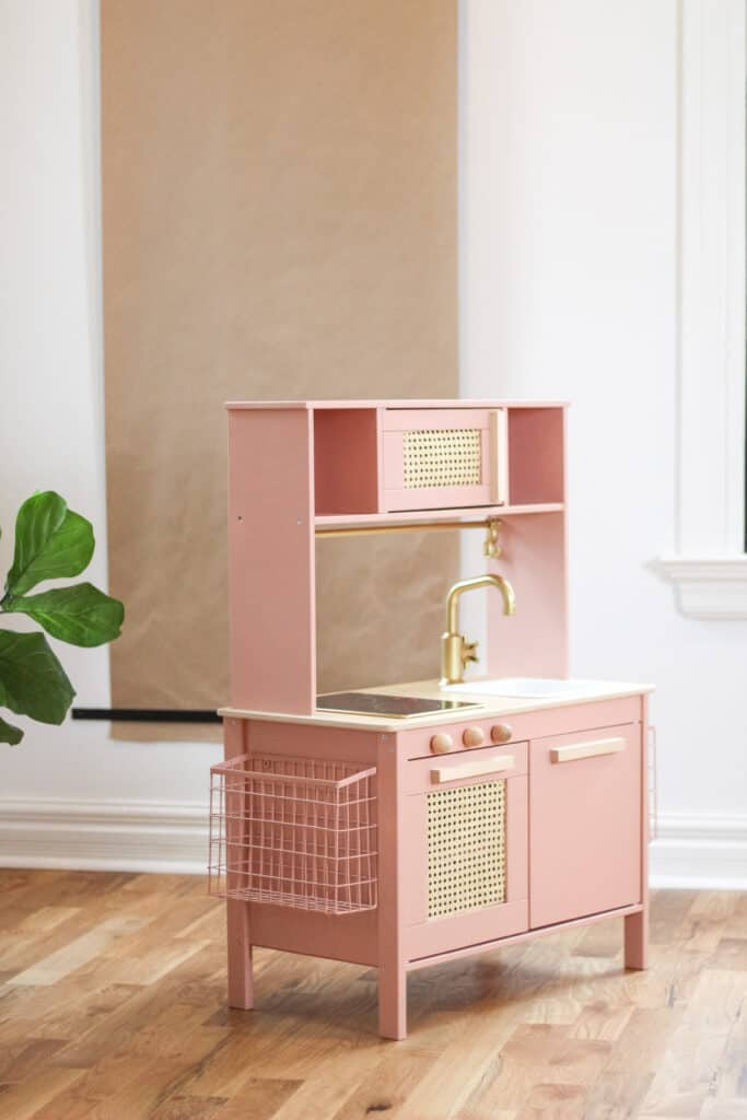 pink cane IKEA play kitchen
