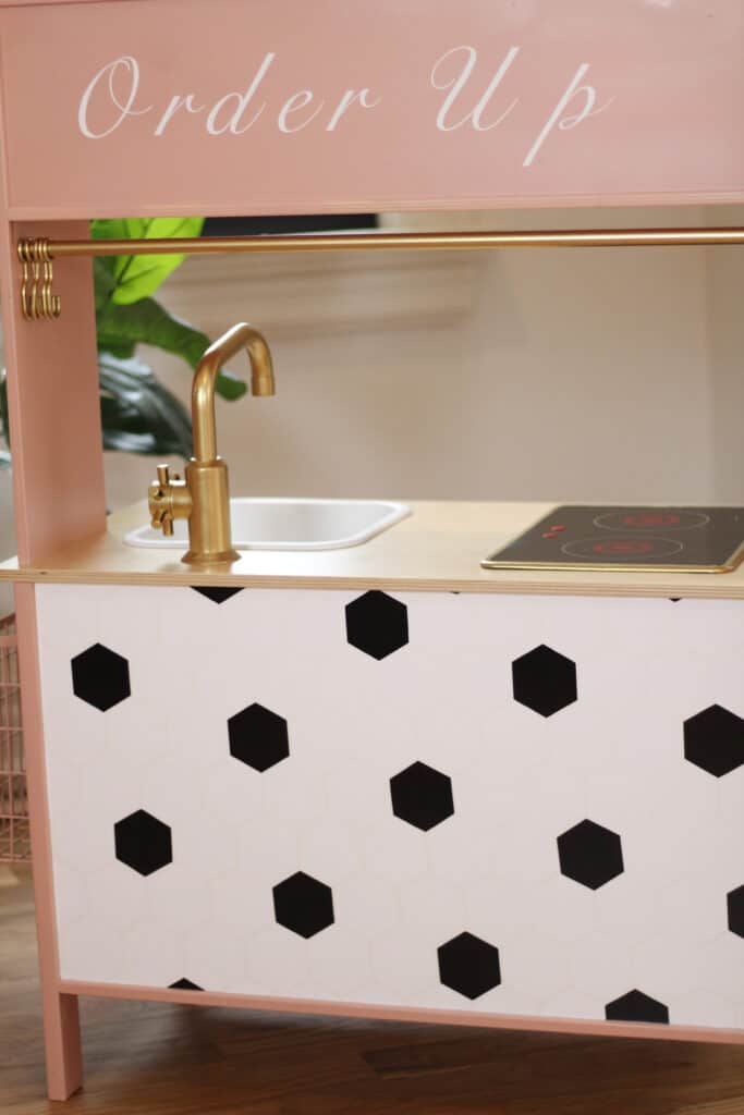 Cricut vinyl on Ikea Play Kitchen
