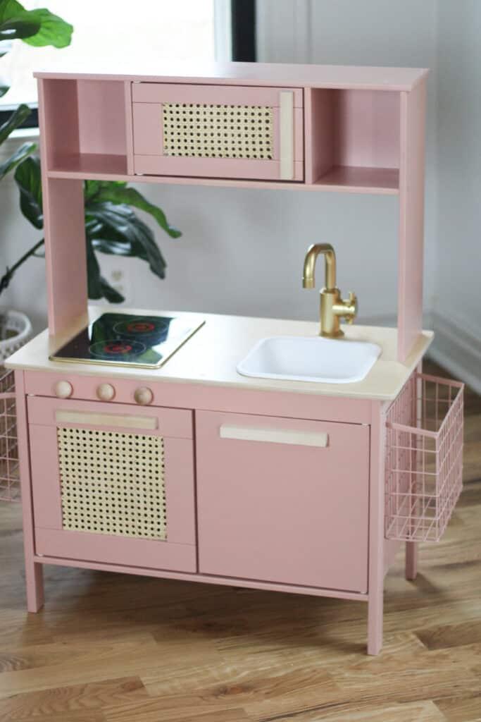 pink Ikea play kitchen