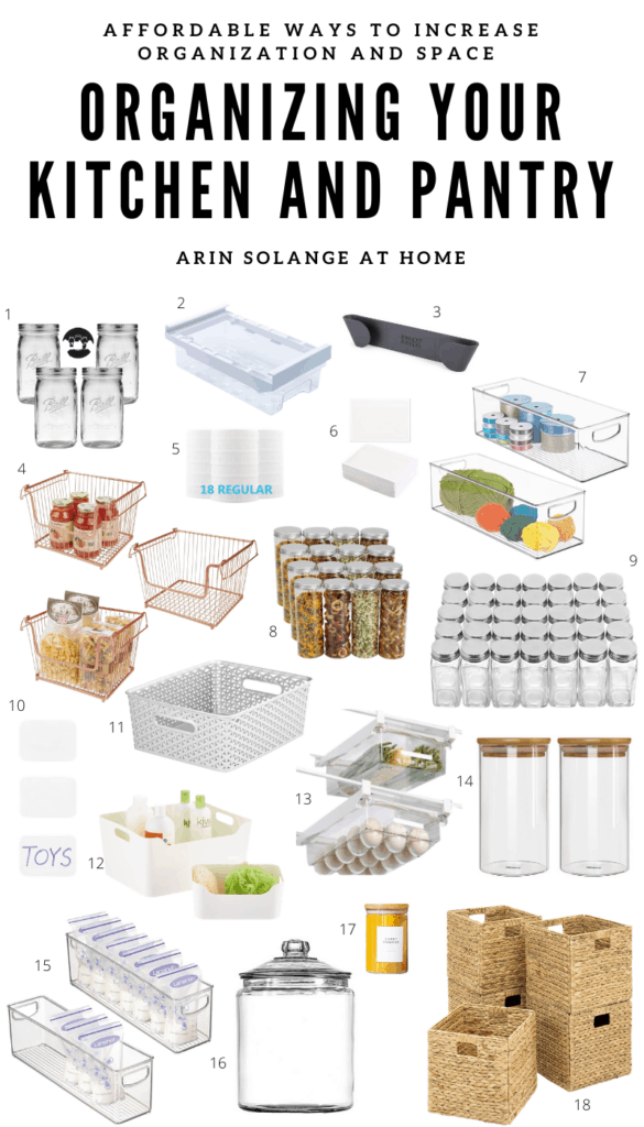 Fridge organization and pantry organization