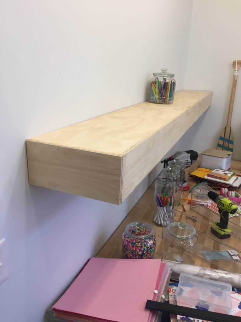 large floating shelf