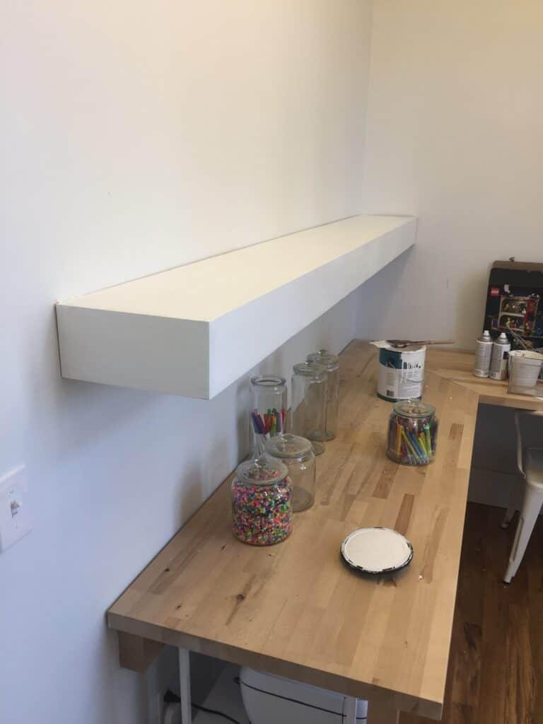 floating shelves done DIY