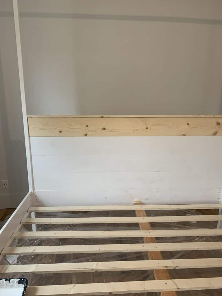 Headboard on canopy bed