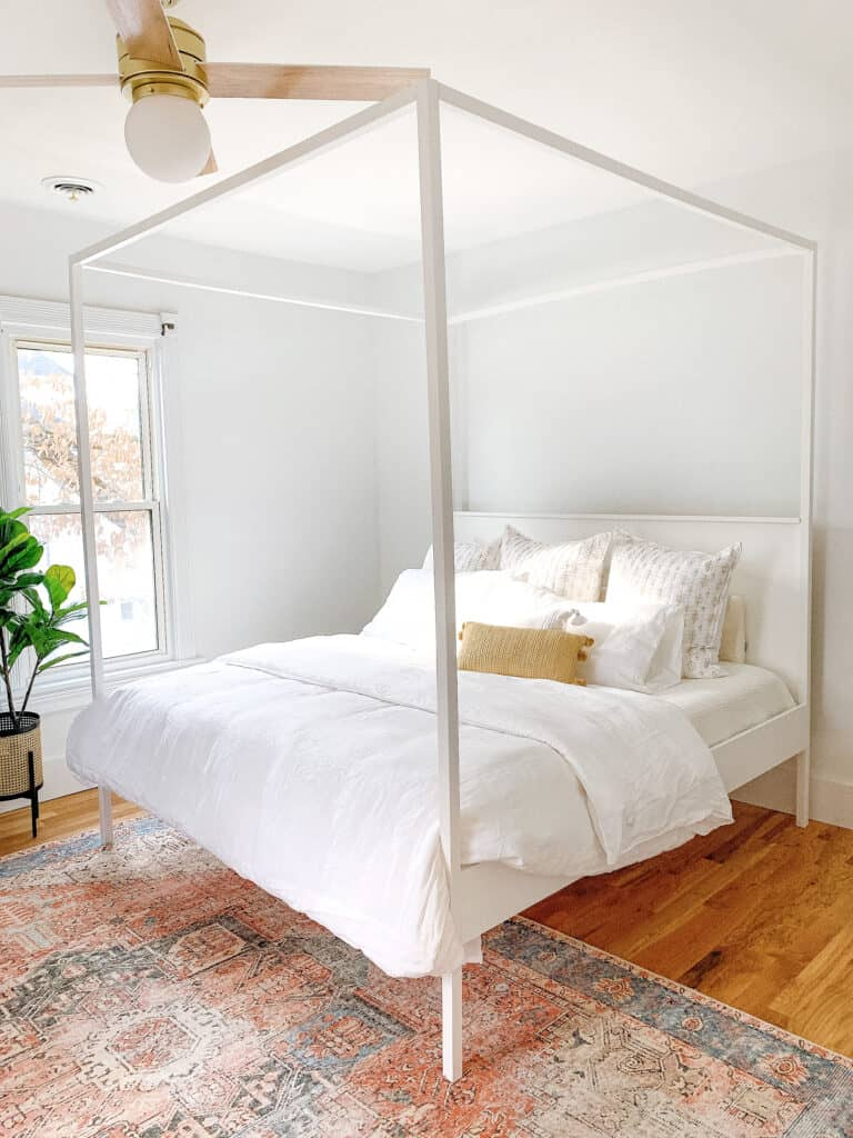 DIY King Sized Canopy Bedframe