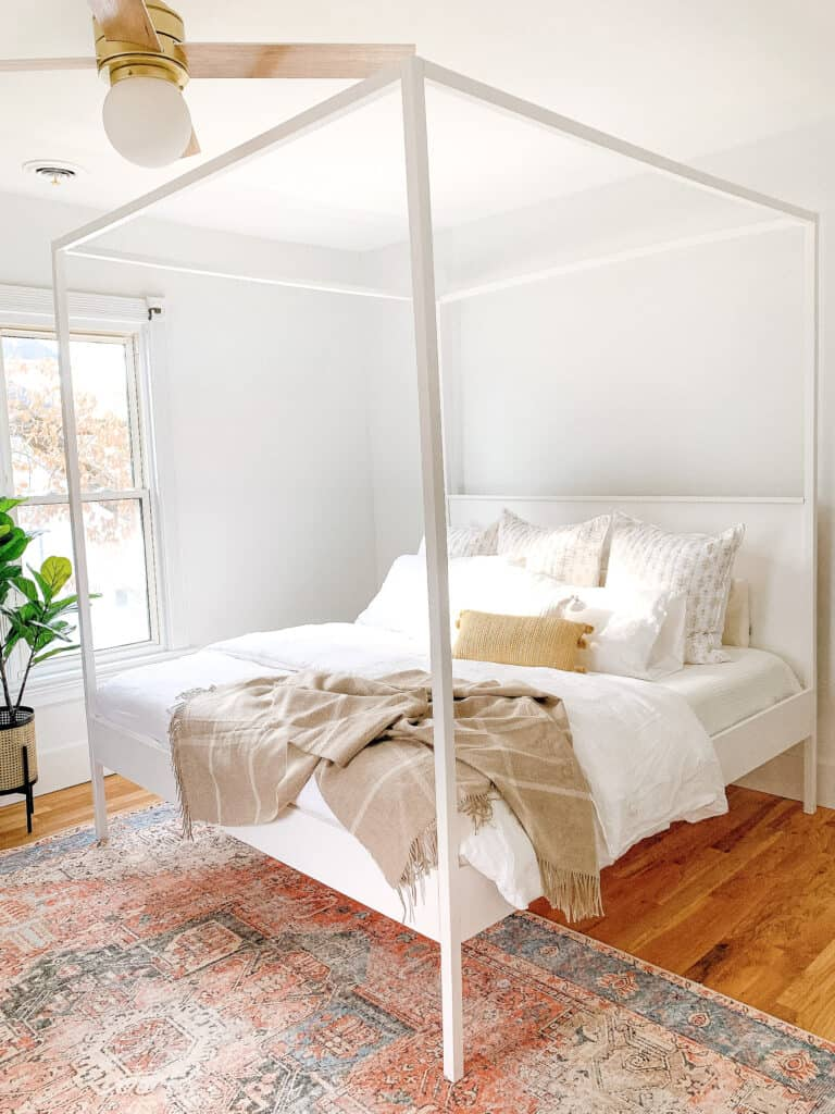DIY king canopy bed frame
