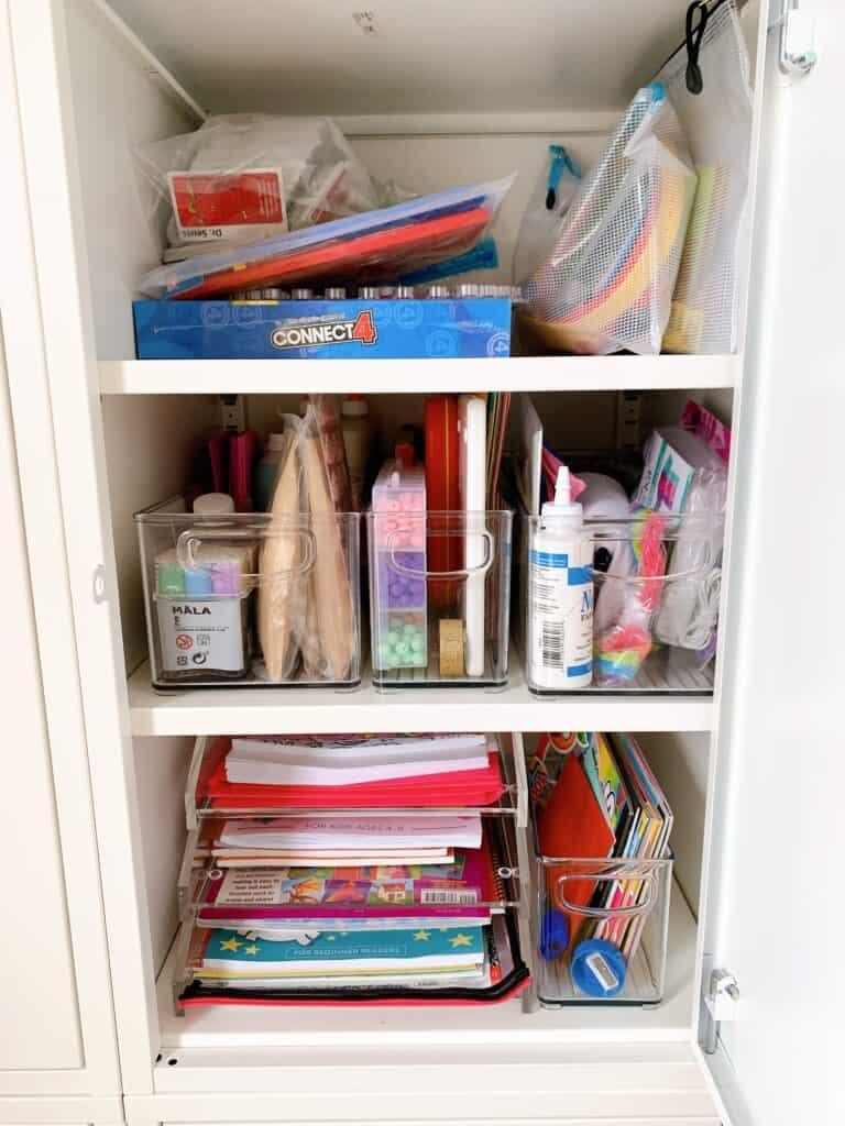 craft bins organized