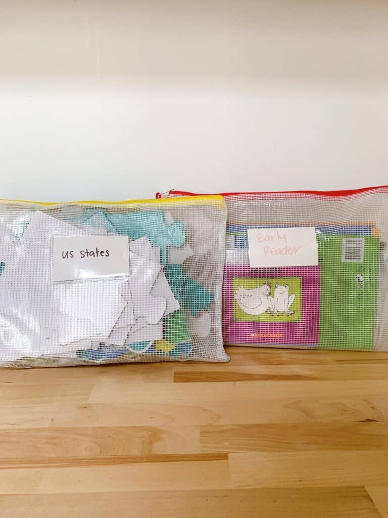 zipper bags for puzzles
