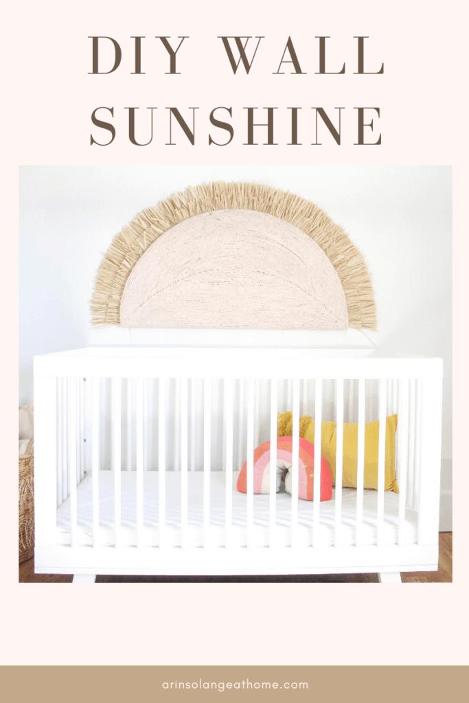 DIY pink Wall Sunshine