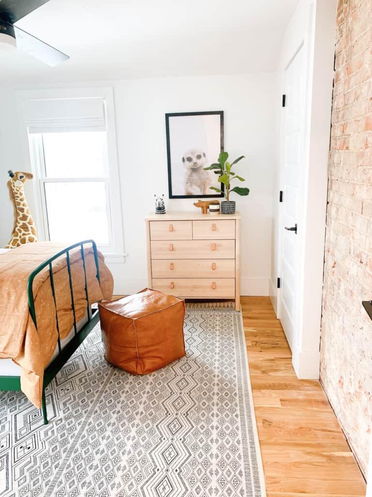 IKEA dresser in boys room
