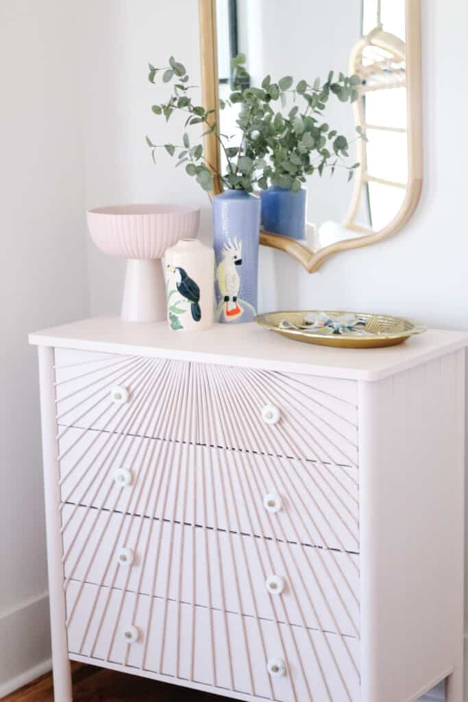 DIY Dowel Dresser Sunburst Style