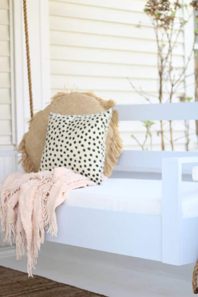 DIY Porch swing styled