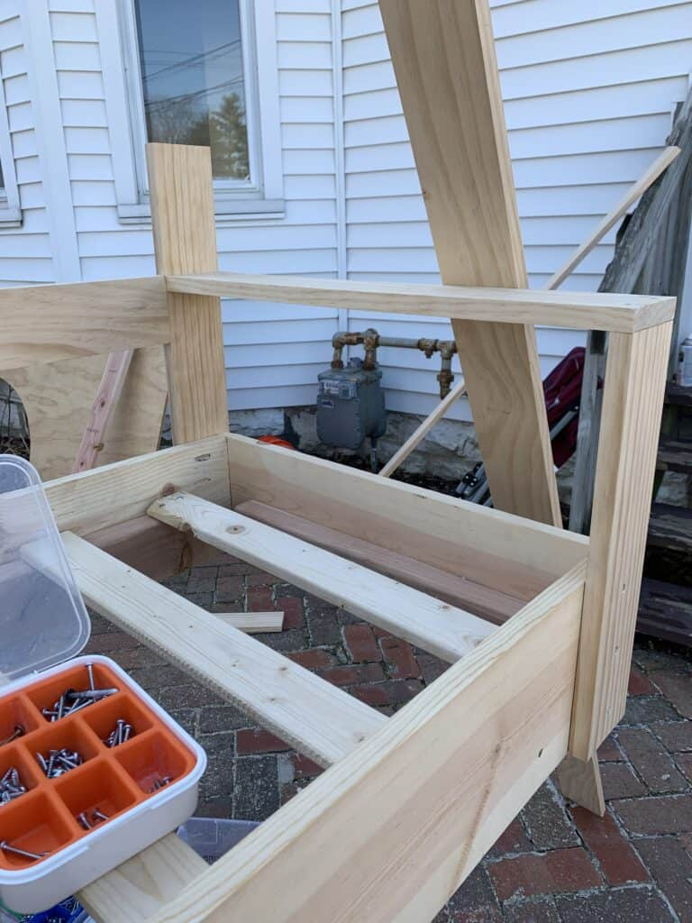 building arms on DIY Porch Swing