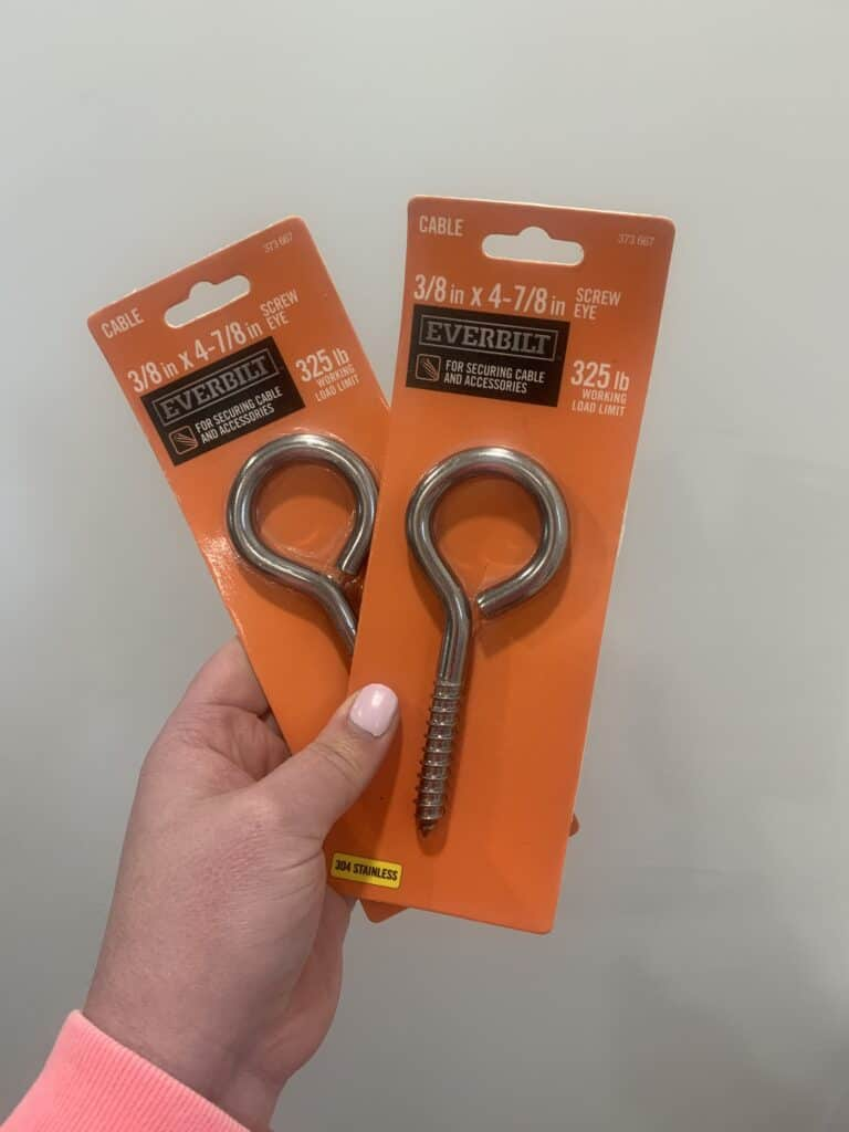 eye bolt screws for hanging porch swing